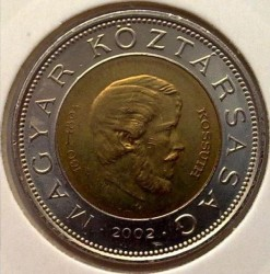Монета > 100форинтів, 2002 - Угорщина  (200-та річниця - Народження Лайоша Кошута) - reverse