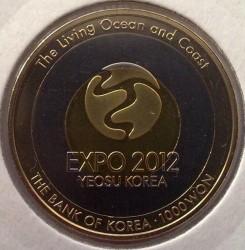 Moeda > 1000won, 2012 - Coreia do Sul  (Yeosu EXPO`2012) - obverse