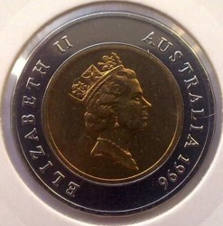 Moneta > 5dollari, 1996-1997 - Australia  (Sir Donald Bradman) - reverse
