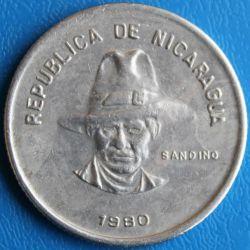 Moeda > 50centavos, 1980 - Nicarágua  - obverse