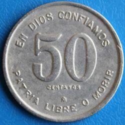 Moeda > 50centavos, 1980 - Nicarágua  - reverse