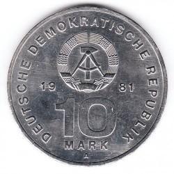 Moneda > 10marcos, 1981 - Alemania - RDA  (25º Aniversario - Ejército Popular Nacional) - obverse