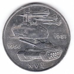 Moneda > 10marcos, 1981 - Alemania - RDA  (25º Aniversario - Ejército Popular Nacional) - reverse