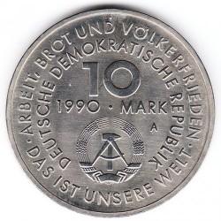 Moneda > 10marcos, 1990 - Alemania - RDA  (100º Aniversario - Día Internacional de Trabajo) - obverse
