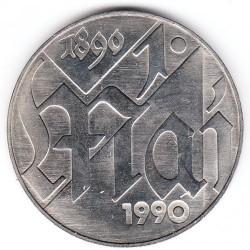 Moneda > 10marcos, 1990 - Alemania - RDA  (100º Aniversario - Día Internacional de Trabajo) - reverse