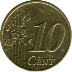 العملة > 10سنتيورو, 2002-2006 - ايرلندا  - obverse