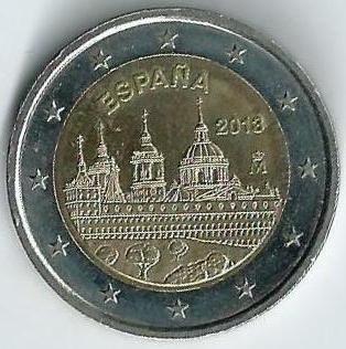 2 /€ Espagne 2013 El Escorial