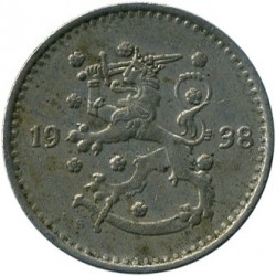 Münze > 1Mark, 1938 - Finnland  - reverse