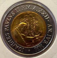 Mynt > 500lire, 2000 - Vatikanstaten  - obverse