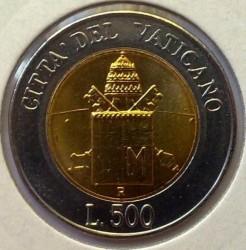 Mynt > 500lire, 2000 - Vatikanstaten  - reverse