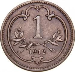 Moneda > 1heller, 1892-1916 - Àustria  - reverse