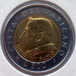 Minca > 500lire, 2001 - Vatikán  - obverse