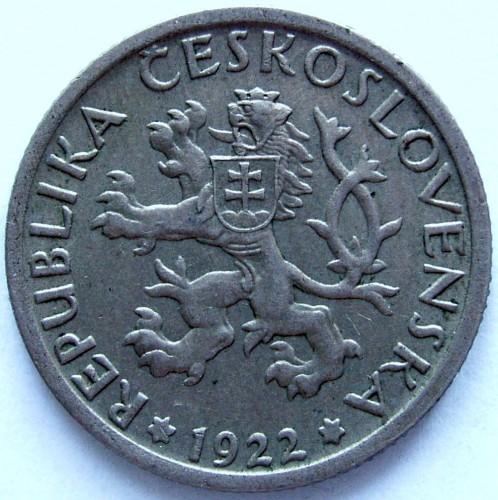 1 Krone 1922 1938 Tschechoslowakei Münzen Wert Ucoinnet