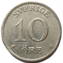 Munt > 10ore, 1909-1942 - Zweden  - reverse