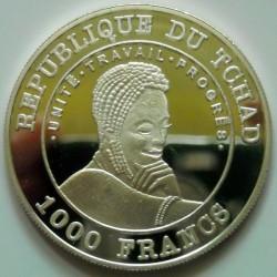 Moneta > 1000franchi, 2002 - Chad  (Coppa del Mondo FIFA, Argentina 1978) - obverse