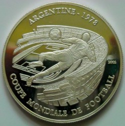 Moneta > 1000franchi, 2002 - Chad  (Coppa del Mondo FIFA, Argentina 1978) - reverse