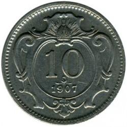 Moneta > 10hellers, 1907 - Austria  - reverse
