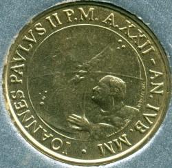 Mynt > 20lire, 2000 - Vatikanstaten  - obverse