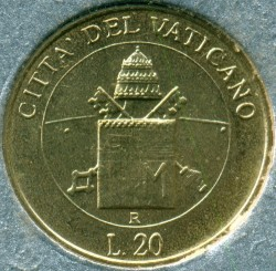 Mynt > 20lire, 2000 - Vatikanstaten  - reverse