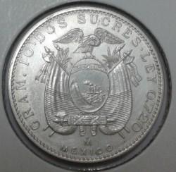 Pièce > 2sucres, 1944 - Équateur  - reverse
