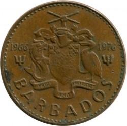 سکه > 1سنت, 1976 - باربادوس  (10th Anniversary of Independence) - obverse