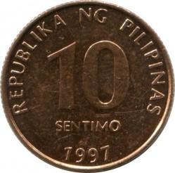 Mynt > 10sentimos, 1995-2017 - Filippinene  - obverse