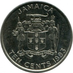 Münze > 10Cent, 1991-1994 - Jamaika  - reverse