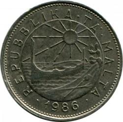 Moneta > 25centów, 1986 - Malta  - reverse