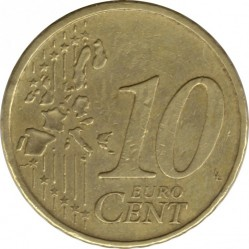 Coin > 10 euro cent, 2002-2007 - Portugal  - reverse