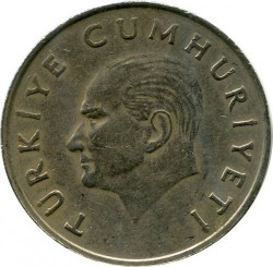 Coin > 100lira, 1988 - Turkey  (Copper-Nickel-Zinc /gray color/, 11g, 30mm) - reverse