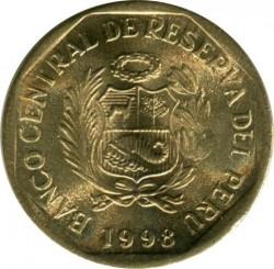 Monēta > 5sentimo, 1991-2000 - Peru  - obverse
