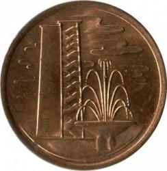 Moneta > 1centesimo, 1976-1985 - Singapore  - reverse