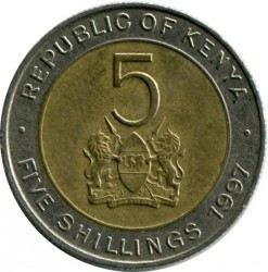 Coin > 5shillings, 1995-1997 - Kenya  - obverse
