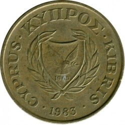 Pièce > 20cents, 1983 - Chypre  - reverse