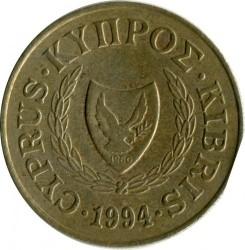 Moneda > 20cents, 1991-2004 - Xipre  - reverse