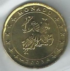 Moneda > 20céntimos, 2001-2004 - Mónaco  - obverse