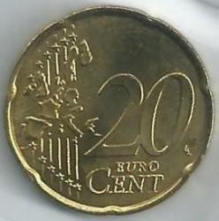Moneda > 20céntimos, 2001-2004 - Mónaco  - reverse