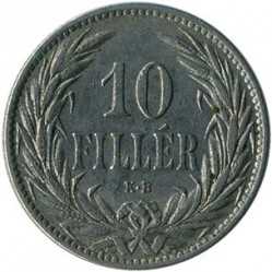 Moneda > 10fillér, 1892-1909 - Hongria  - obverse