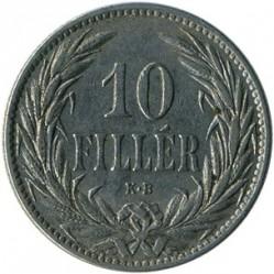 Moneda > 10fillér, 1892-1909 - Hongria  - reverse