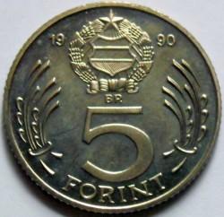 Moneta > 5forintai, 1990 - Vengrija  - reverse