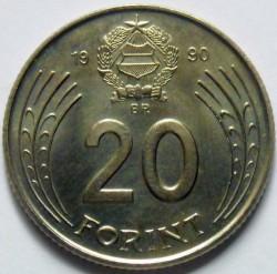 Монета > 20форинтов, 1990 - Венгрия  - reverse