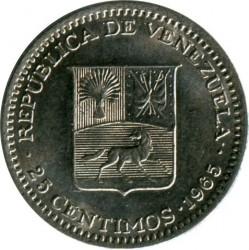 Νόμισμα > 25Σεντίμος, 1965 - Βενεζουέλα  - obverse