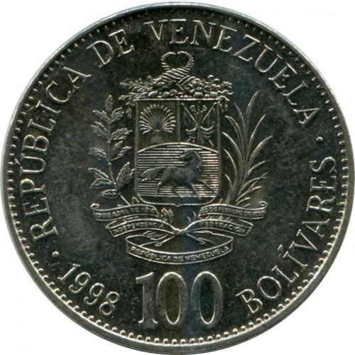 100 Bolívares 1998 Venezuela Coin