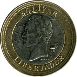 Moneta > 1bolivaras, 2007-2009 - Venesuela  - reverse