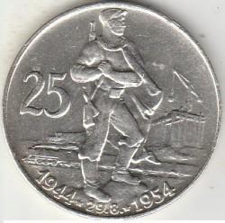 Moneta > 25corone, 1954 - Cecoslovacchia  (10° anniversario - Insurrezione nazionale slovacca ) - obverse