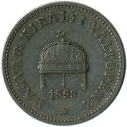 Moneta > 20filler, 1892-1914 - Ungheria  - reverse