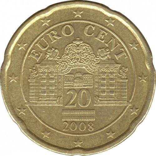 20 Centimes Deuro 2008 2018 Autriche Valeur Pièce Ucoinnet