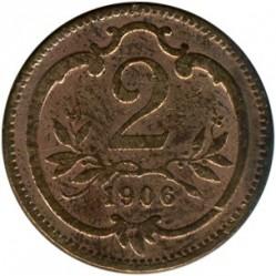 Moneda > 2heller, 1892-1915 - Àustria  - reverse