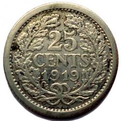 מטבע > 25סנט, 1910-1925 - הולנד  - reverse