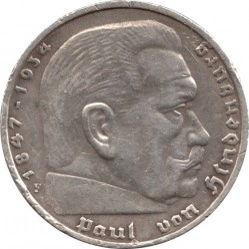 Монета > 5рейхсмарок, 1935 - Германия (Третий рейх)  - obverse
